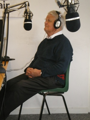Bruce being interviewed for Phoenix Radio